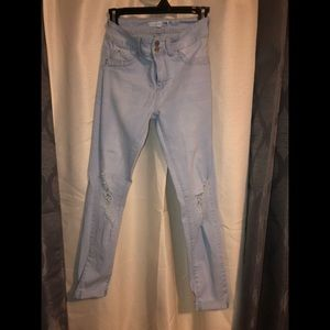 Distressed Charlotte Russe jeans